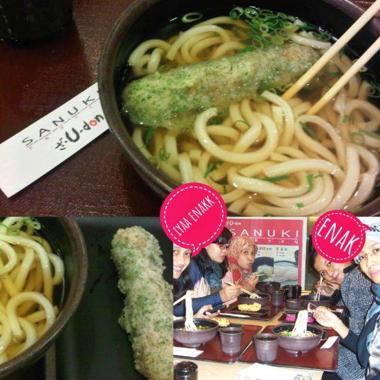 halal food Osaka - Sanuki udon Kansai airport - ilgotrip