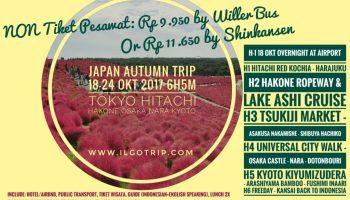Trip Jepang Autumn Hitachi Kochia Hakone Golden Route Tokyo Osaka Nara Kyoto